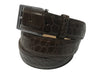 Alligator Skin Matte Belt Brown
