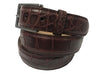 Alligator Skin Matte Belt Burgundy