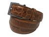 Alligator Skin Matte Belt Cognac