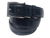 Alligator Skin Matte Belt Navy