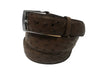 Ostrich Skin Belt Brown