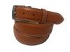 Calf Skin Pebble Belt Brick / White Stitch