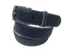 Calf Skin Pebble Belt Navy / White Stitch & Edge
