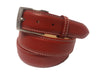 Calf Skin Pebble Belt Red / White Stitch