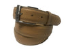Calf Skin Pebble Belt Tan / White Stitch