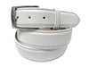 Calf Skin Pebble Belt White Classic