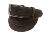 Calf Skin Suede Belt Brown / White Stitch