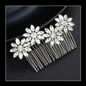 The Diamond Flowers Hair Comb