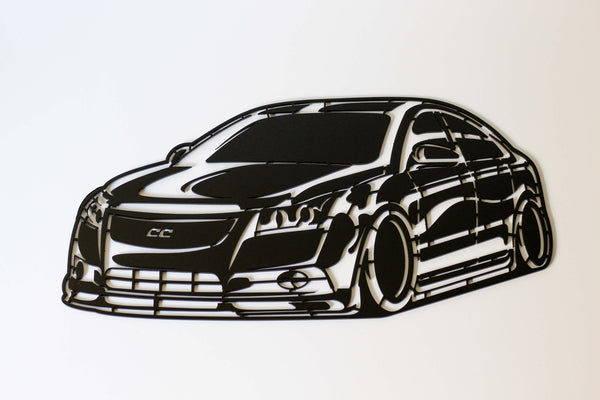 1st Gen Cruze Matte Black Steel Art Piece