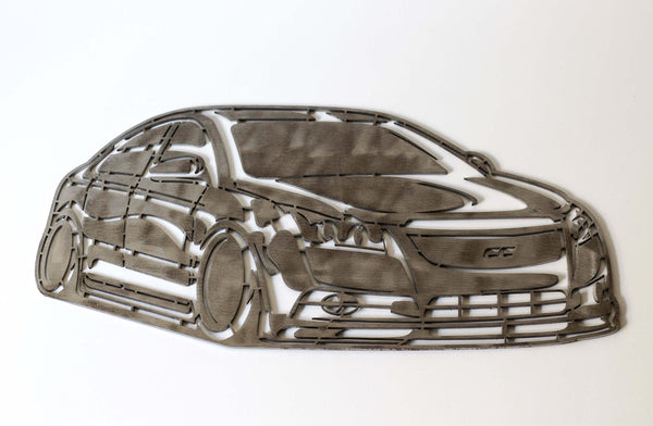 1st Gen Cruze Raw Steel Art Piece