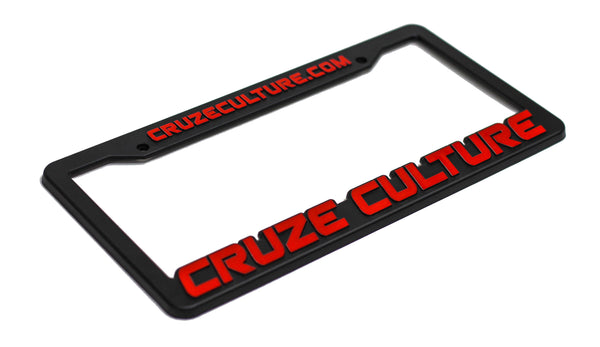 Cruze Culture Red License Plate Frame