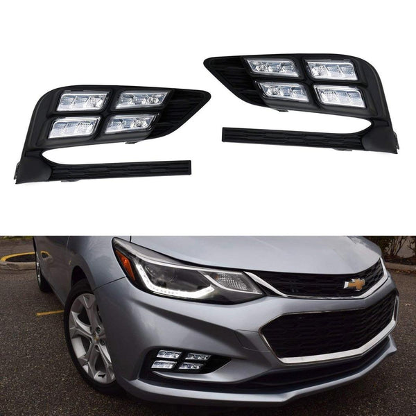 16-18 Chevrolet Cruze iJDMToy Xenon White LED Daytime Running Light/Fog Lamps