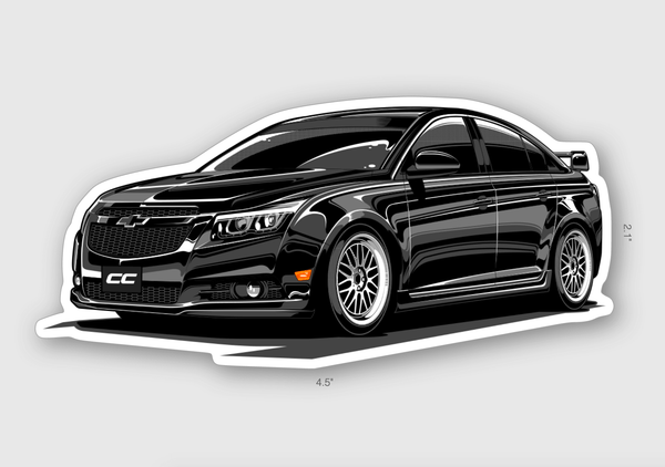 Jasmin's Cruze Die Cut Sticker