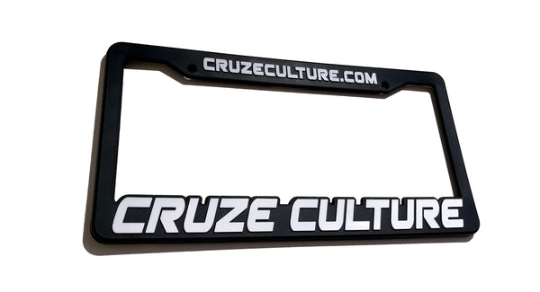 Cruze Culture White License Plate Frame