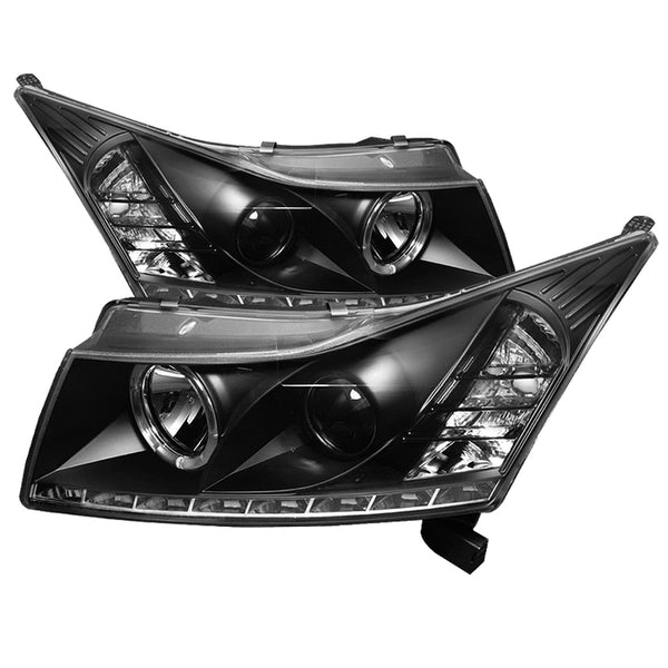 11-16 Chevrolet Cruze Spyder Projector Headlights - LED Halo - Black
