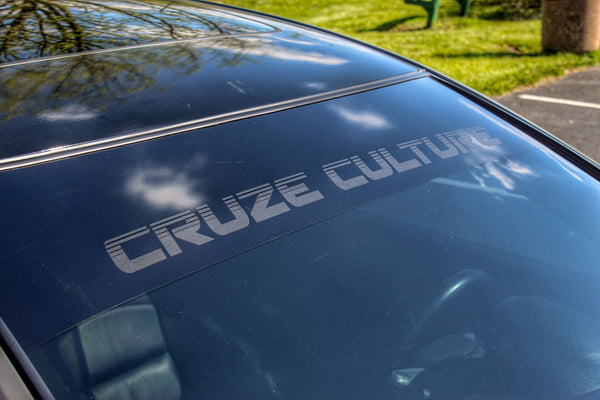 Cruze Culture Lined Windshield Banner