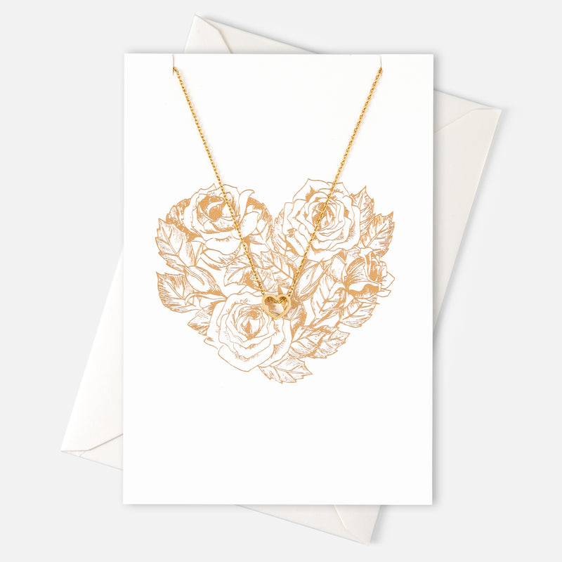 Heart Necklace Gift Card