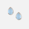 Fine Sterling Silver Semi Precious Crystal Earrings