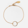 Gold Plated Open Circle Bracelet