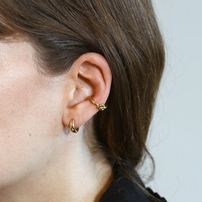 Knot Ear Cuff-Gold
