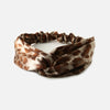 Brown Silk Leopard Turban