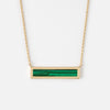 Gold Plated Malachite Bar Necklace