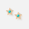Stone Star Stud Earrings