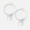 Mini Horn & Stone Hoop Earrings
