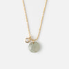 Faceted Stone Drop Gold Necklace