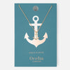 Gold Plated Anchor Charm Necklace