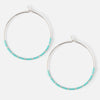 Seedbead Hoop Earrings - Turquoise