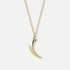 Chunky Gold Tusk Necklace