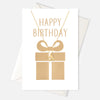 Happy Birthday Bow Necklace Gift Card