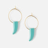 Turquoise Tusk Hoop Earrings