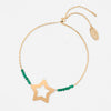 Beaded Star Adjustable Bracelet