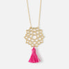 Large Crown Chakra & Tassel Necklace