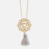 Large Throat Chakra & Tassel Necklace