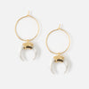 Horn & Hoop Earrings