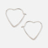 Small Heart Hoop Earrings - Silver