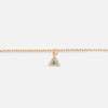 Pave Triangle Charm Necklace
