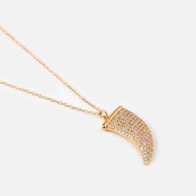 LUXE Pavé Tusk Necklace
