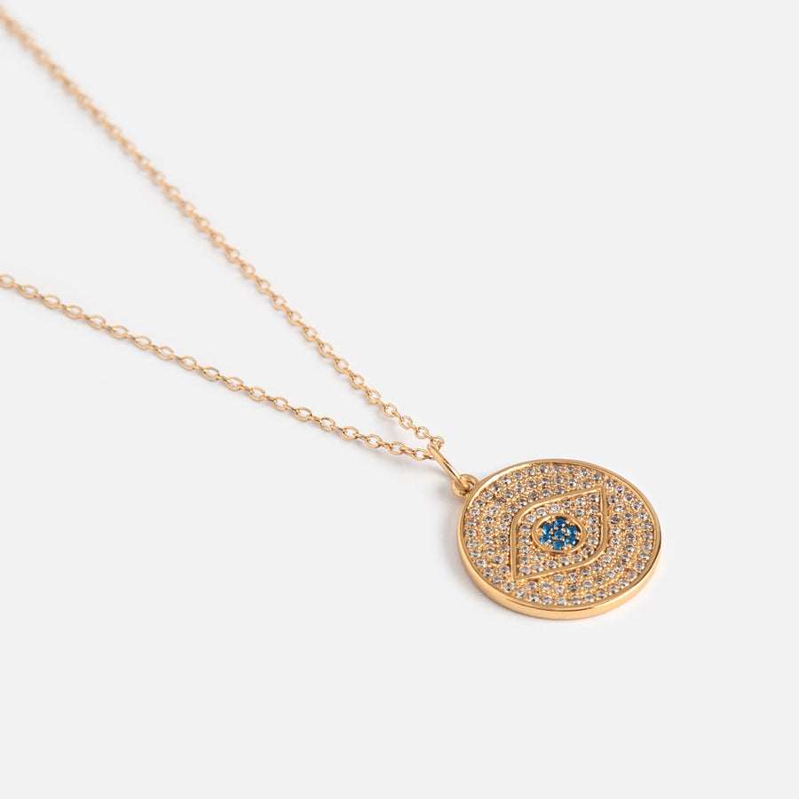 LUXE Pavé Evil Eye Necklace