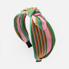 Pink & Green Stripe Turban Headband
