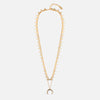 Mini Triangle & Horn Necklace - Gold