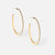 FINE CRYSTAL PAVE HOOP EARRINGS - GOLD