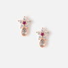 Micro Flower & Teardrop Stud Earrings