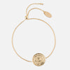 Engraved Coin Bracelet - Gold