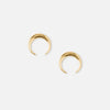Crescent Stud Earrings - Gold