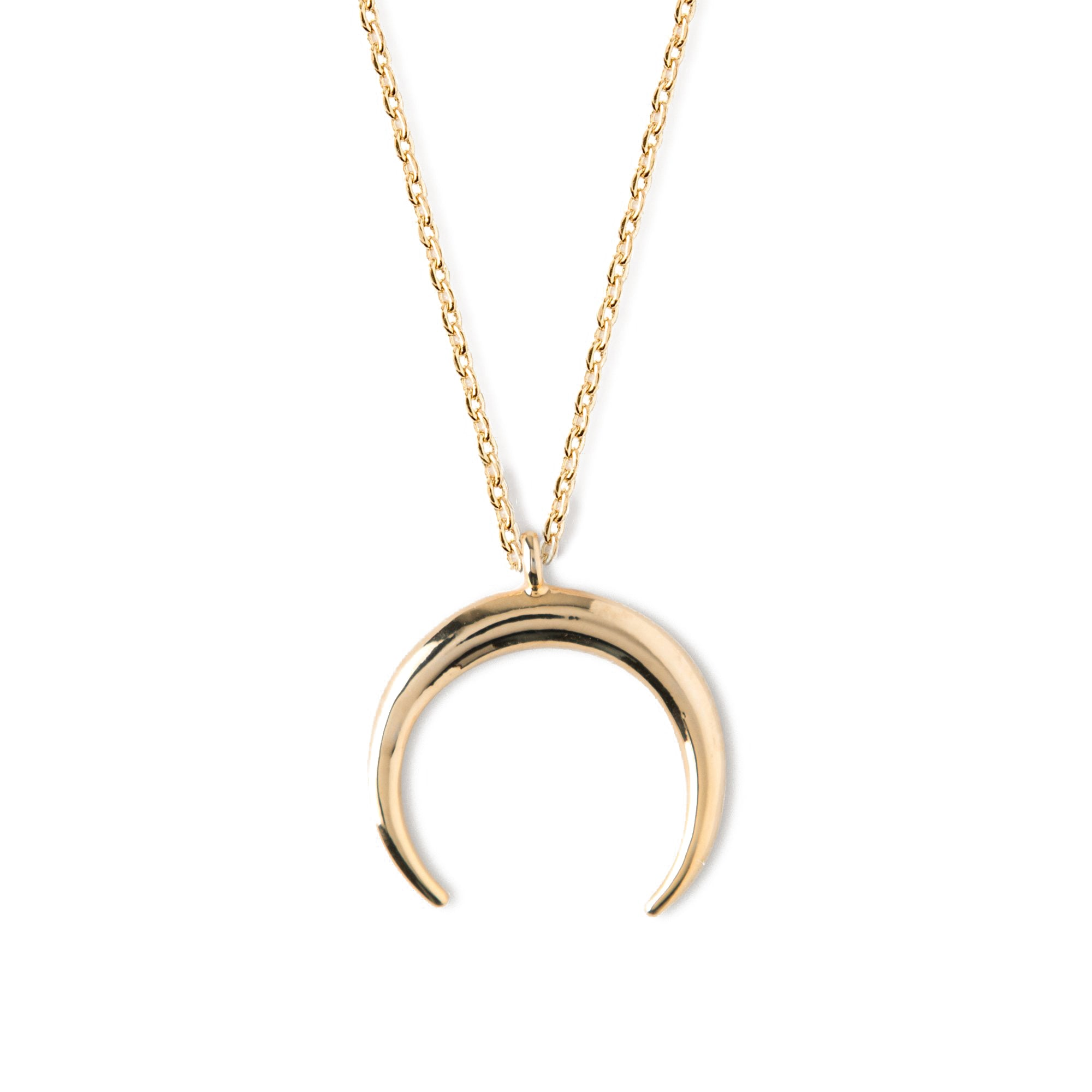 Crescent Ditsy Necklace - Gold