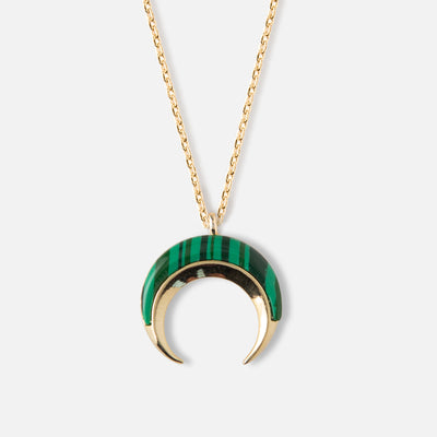 Malachite Crescent Necklace